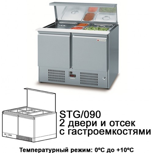 Холодильный стол для ресторанов NEW ATLAS MINI STG/090