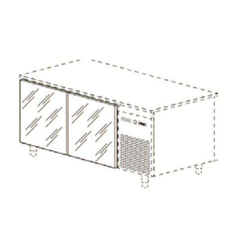 Стеклянные двери для столов глубиной 60/70 см, 2 шт