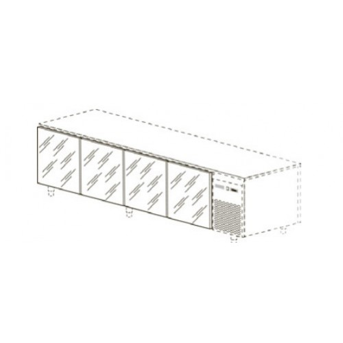 Стеклянные двери для столов глубиной 60/70 см, 4 шт