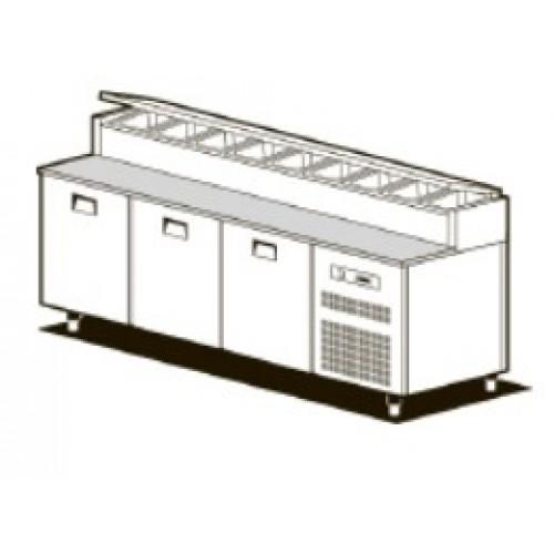 Холодильный стол для пиццы NEW SMART SFF/716I