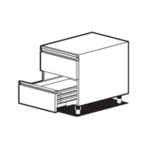 Нейтральный модуль с 2 выдвижными ящиками