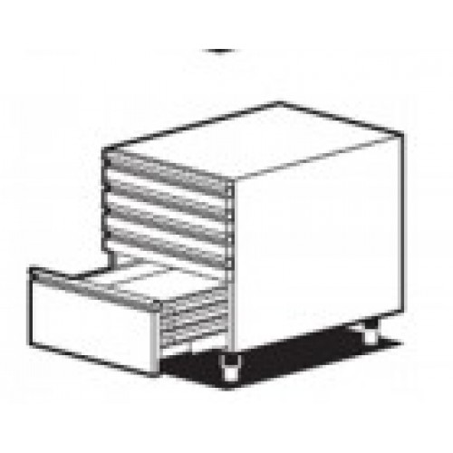 Нейтральный модуль с 4 маленькими выдвижными ящиками и 1 большим