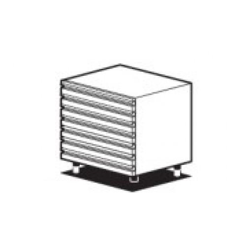 Нейтральный модуль с 7 широкими маленькими выдвижными ящиками