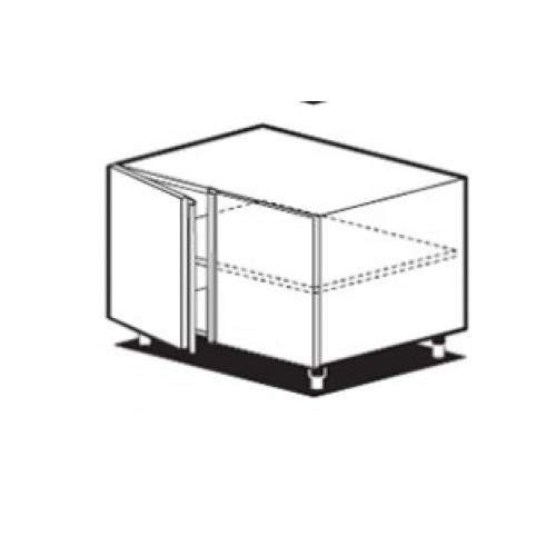 Открытый ящик со средней полкой и дверьми